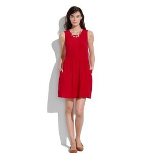 Madewell Shirred Silk Sleeveless Dress 2